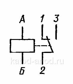Принципиальная электрическая схема реле РЭС-49