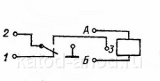 Реле РЭС55а (электрическая схема)