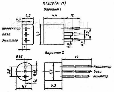 Схема транзистора кт 209 б1