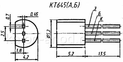 Транзистор КТ645